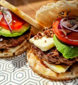 Burger revisité au steak de canard